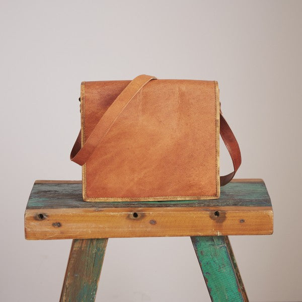 Paper high - Brown Leather Bag Medium