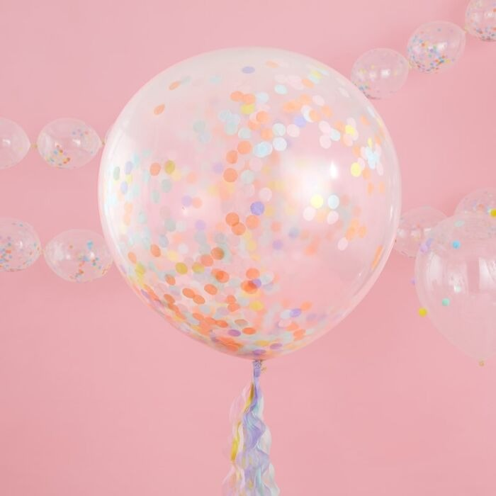 Ginger Ray Pastel Party - Giant Confetti Balloons