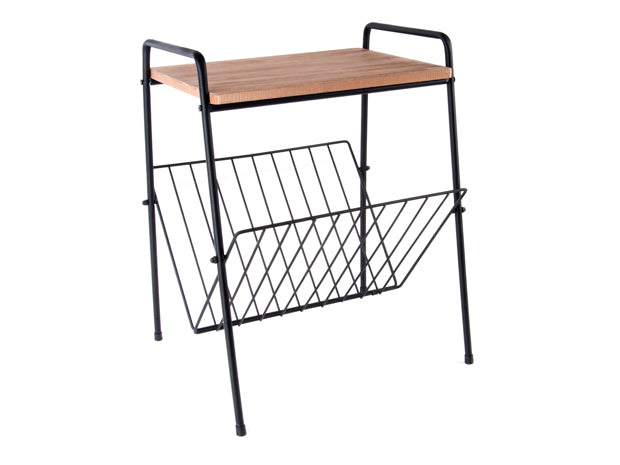 Present Time Interiors - Side Table with Rack