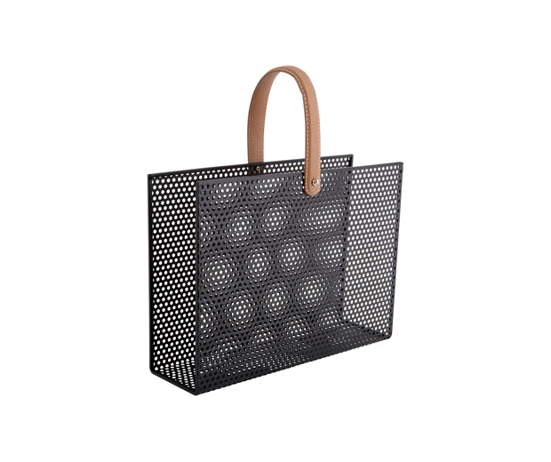 Present Time Interiors - Mesh Magazine Rack
