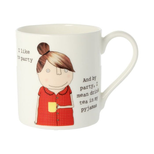 Rosie Made a Thing Mug - I like to Party