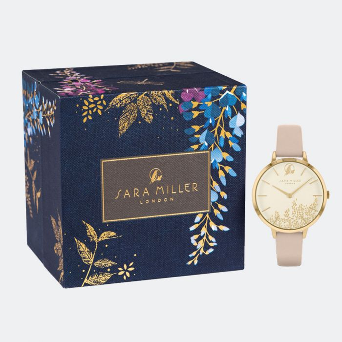 Sara Miller Watch - Leaf Collection - Trench Strap