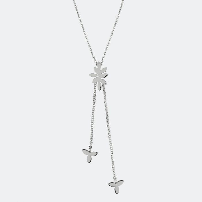 Sara Miller Jewellery - Silver Leaf Collection Necklace with leaf charm