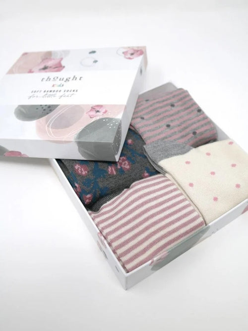 Thought Bamboo Kids Socks Box - Rose (Age 7-9yrs only)