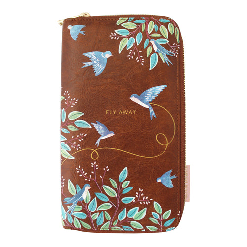 Disaster Designs Secret Garden Bird Travel Wallet
