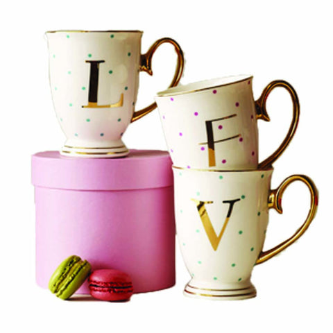 Bombay Duck Alphabet Spotty Mugs