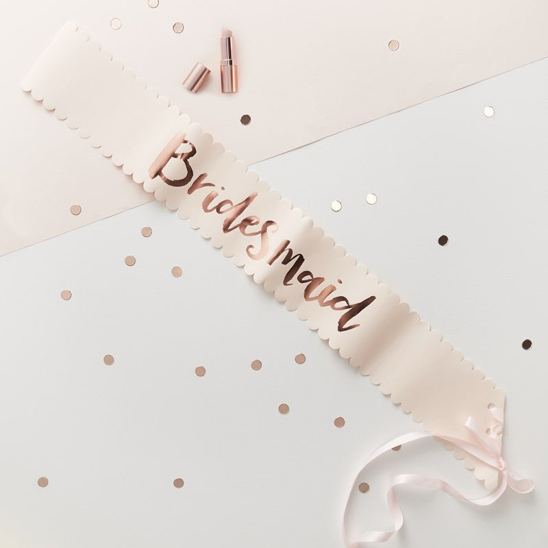 Ginger Ray - Team Bride - Bridesmaid Sashes