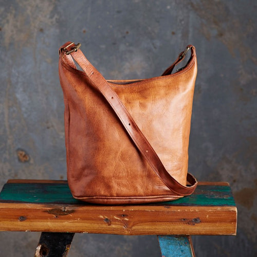Paper High - Leather Tote Bag
