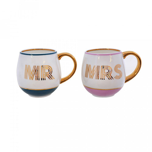 Bombay Duck Mug Library Set - Mr & Mrs