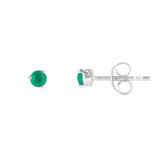 Juvi Tiny Gemstone Studs -Sterling Silver