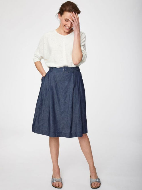 Thought Clothing - Camila Organic Cotton Belted Skirt