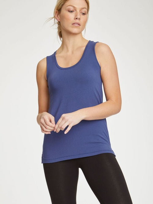 Thought Clothing - BAMBOO BASE LAYER SINGLET SAPPHIRE BLUE