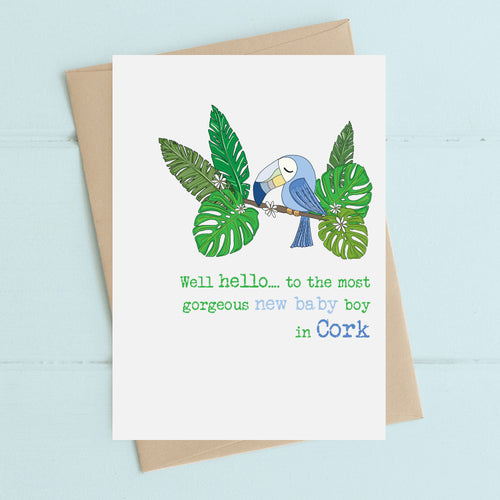 Dandelion Card - Toucan New Baby Boy in Cork