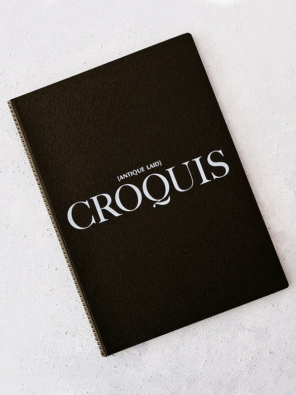 Antique Laid Croquis Sketchbook (A4) - WAZA