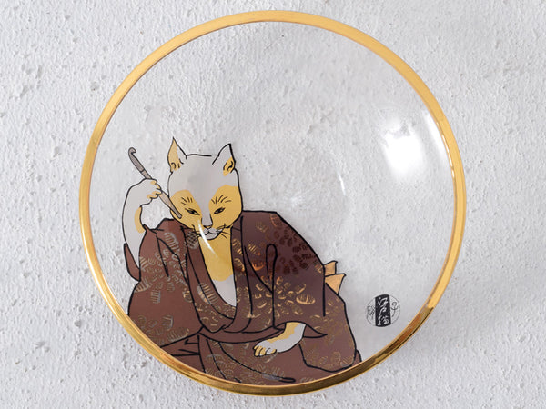 Edo Cats Glass Snack Plates