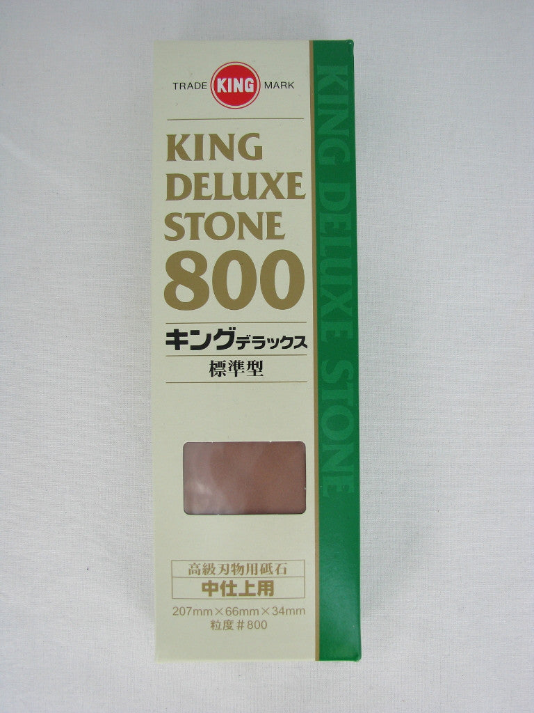 King Deluxe #800 Grit Medium Sharpening Stone