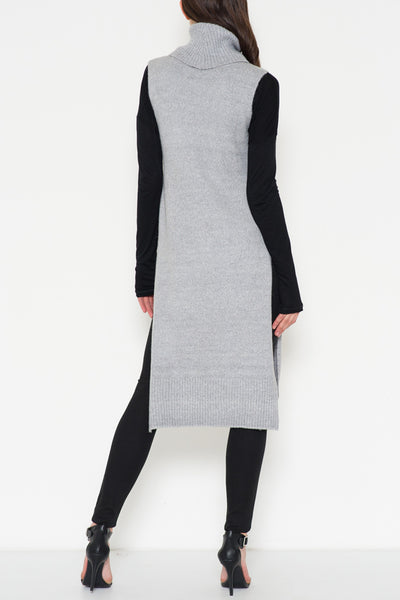 Sleeveless Turtleneck Tunic