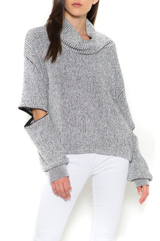 Colw Neck Zipper Pullover
