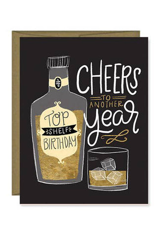 Top Shelf Birthday Card