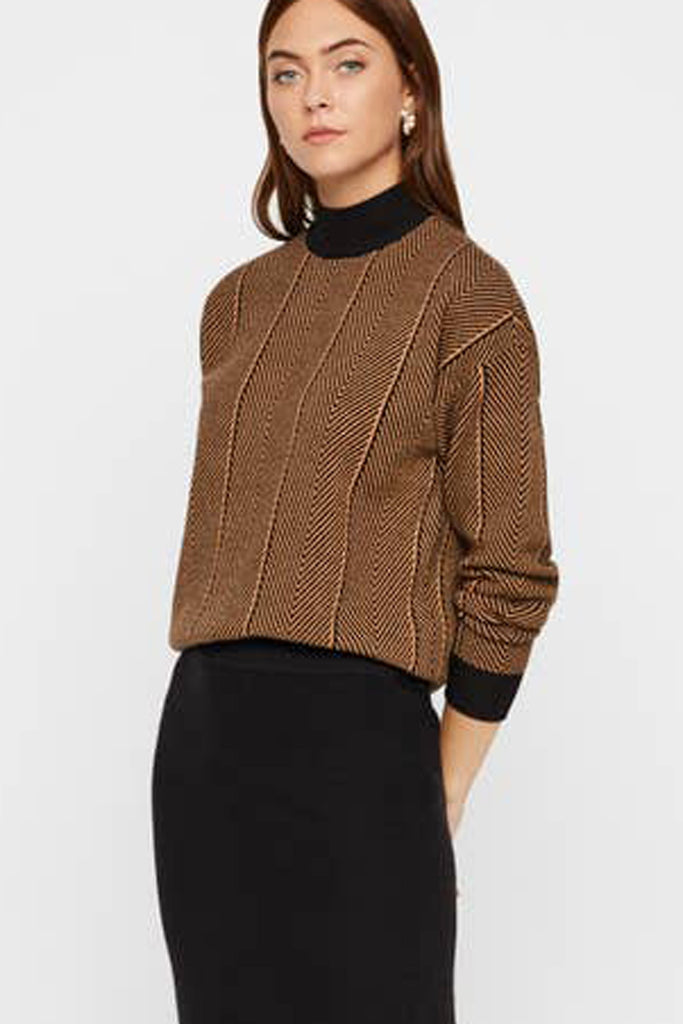 Funnelneck Knit Sweater
