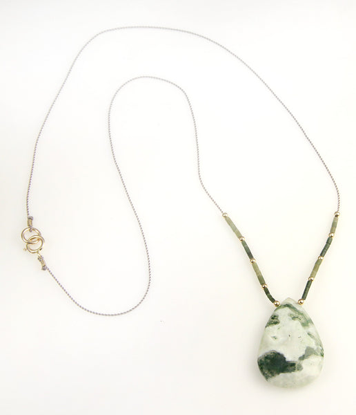Moss Agate Briolette Necklace