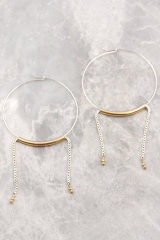Metals and Forms Hoops Earrings