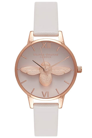 3D Bee Blush Dial, Blush and Rose Gold Watch