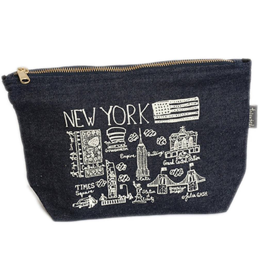 New York Denim Zip Purse