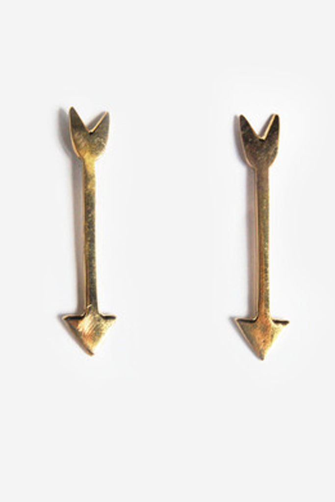 Arrowhead Brass Earrings
