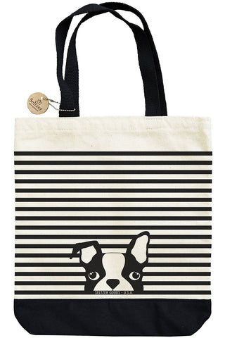 Boston Terrier Stripes Tote