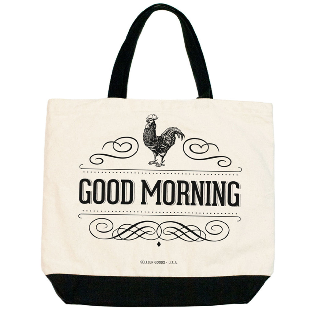 Rooster Good Mornimg Tote