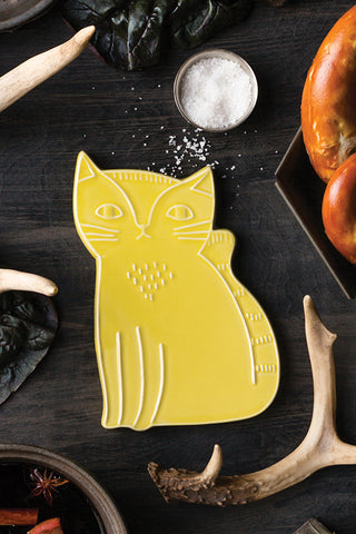 Yellow Cat Trivet