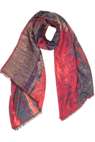 Red Watercolor Scarf