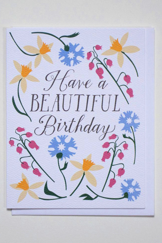 Happy Birthday Daffodils Card