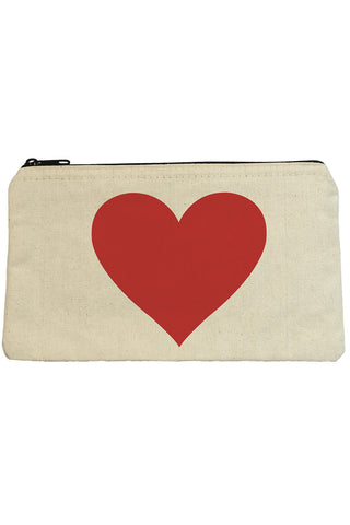 Big Heart Zip Pouch