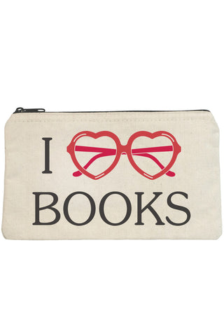 I Love Books Zip Pouch