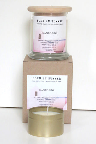 Born in Summer Candle - Santorini
