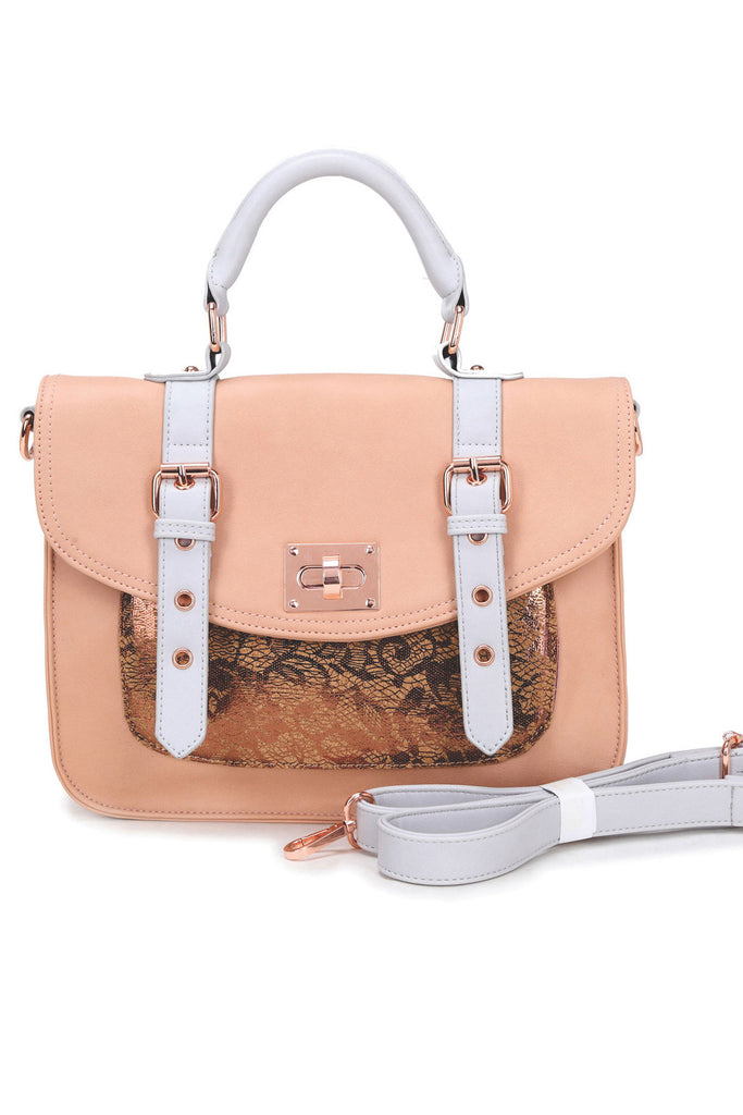 Steph – Copper Lace Cork Bag