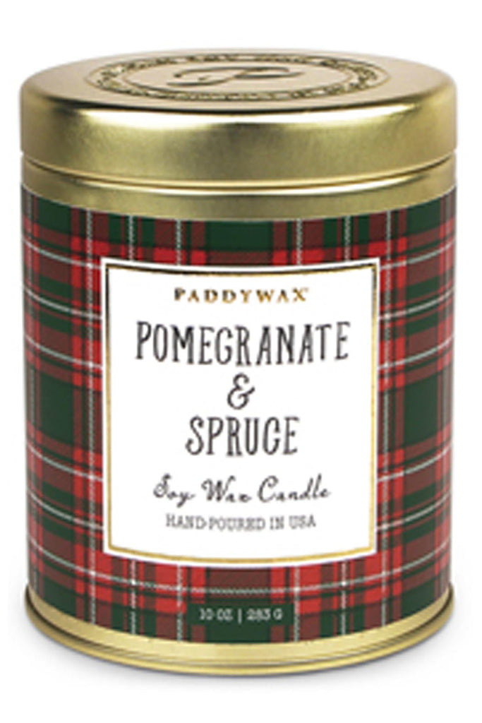 Pomegranate & Spruce 10 oz. Tartan Candle