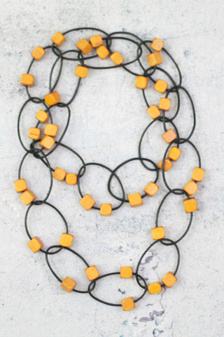 Mustard Gemma Necklace