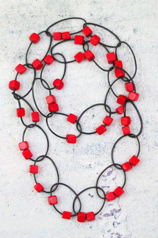 Red Gemma Necklace
