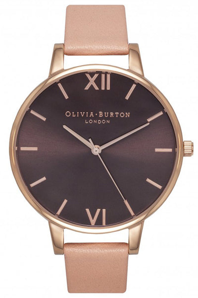 Big Dial Brown Dial Dusty Pink and Rose Gold Olivia Burton OB15BD72