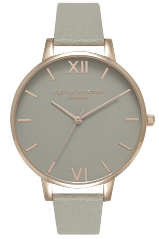 Big Dial Gray dial and Rose Gold Olivia Burton Watch OB15BD61