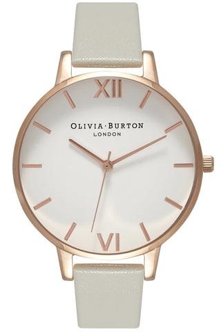 Big Dial, White Dial, Gray and Rose Gold Code: OB15BDW02 Olivia Burton