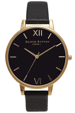 Big Dial Black Dial and Gold Olivia Burton OB15BD55
