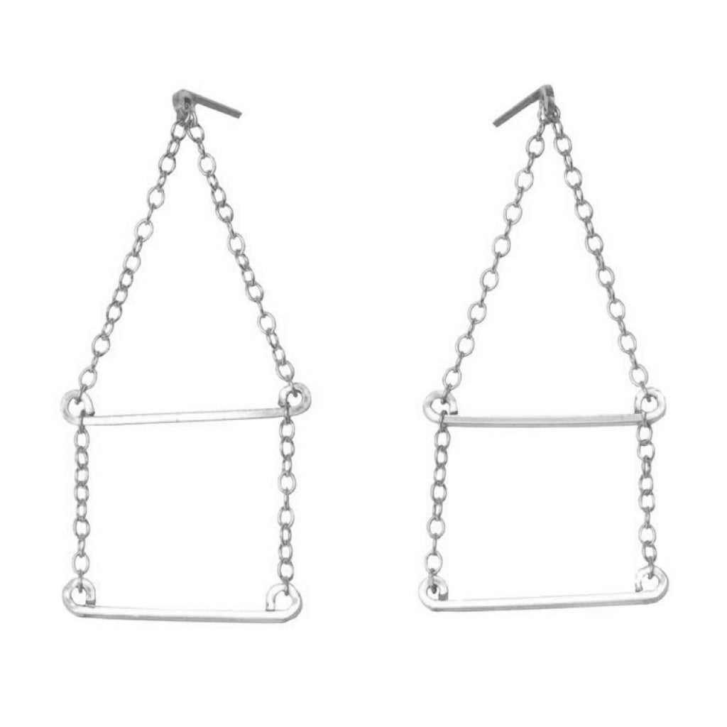Chain and Square Earrings