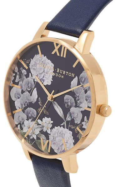 Enchanted Garden Midnight Dial and Gold Watch