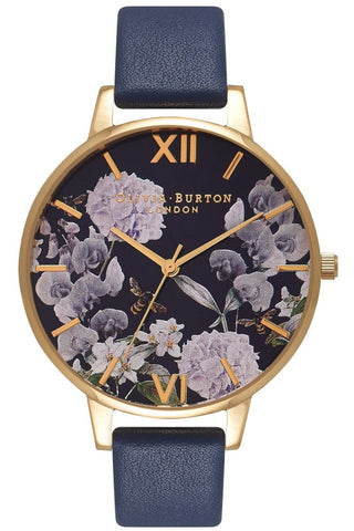 Enchanted Garden Midnight Dial and Gold Watch OB16EG55 Olivia Burton