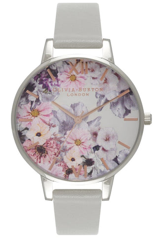 Enchanted Garden Gray and Silver Olivia Burton Watch code OB15FS76