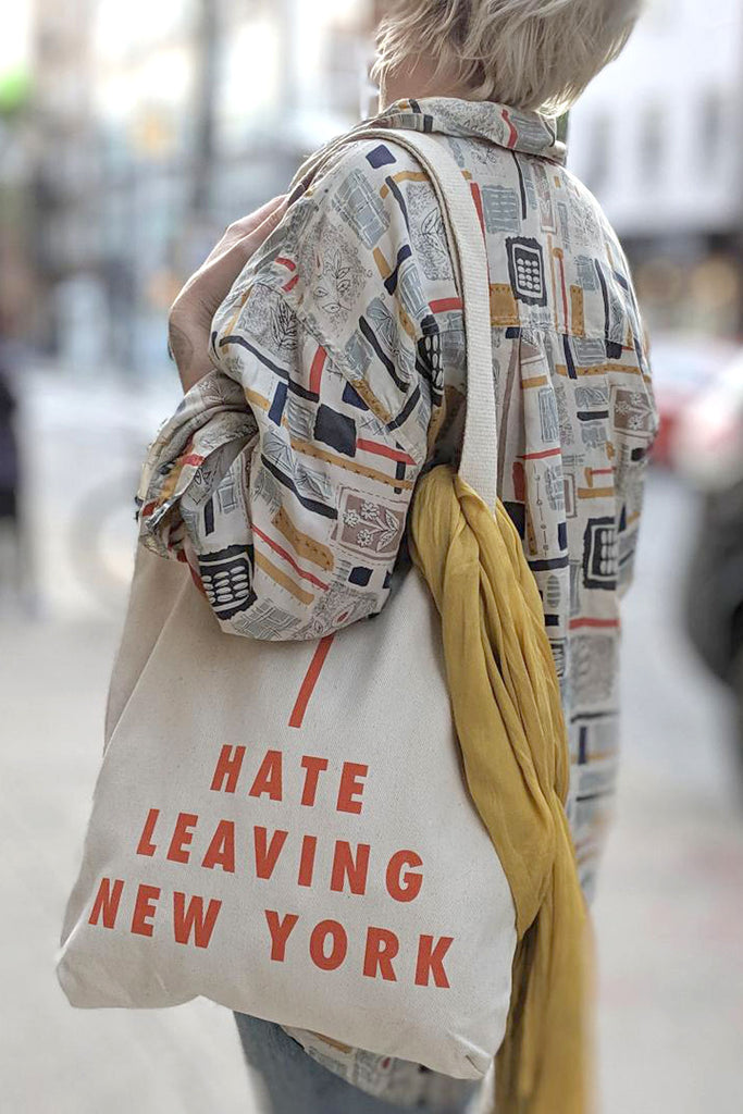 I Hate Living NY Tote Bag